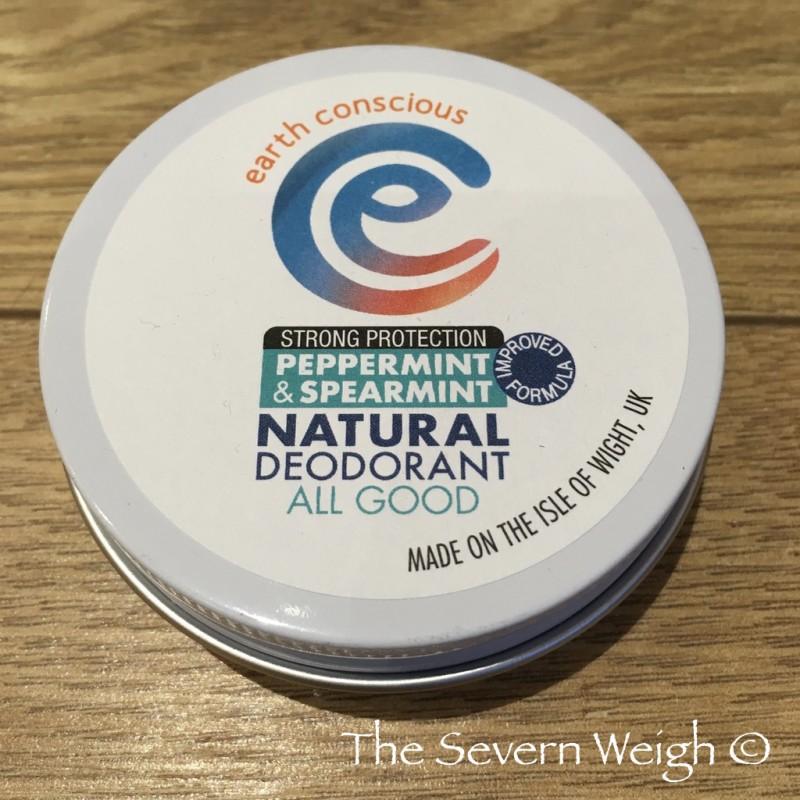 Earth Conscious: Peppermint & Spearmint Natural Deodorant Tin