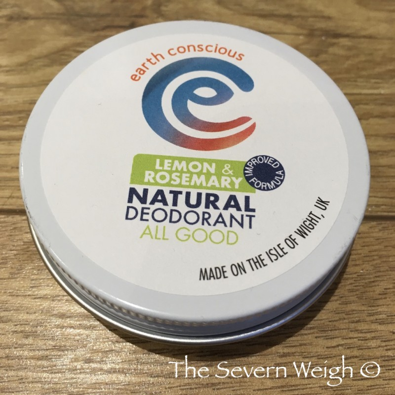 Earth Conscious: Lemon & Rosemary Natural Deodorant Tin