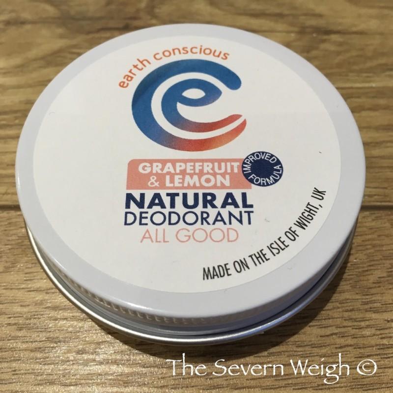 Earth Conscious: Grapefruit & Lemon Natural Deodorant Tin