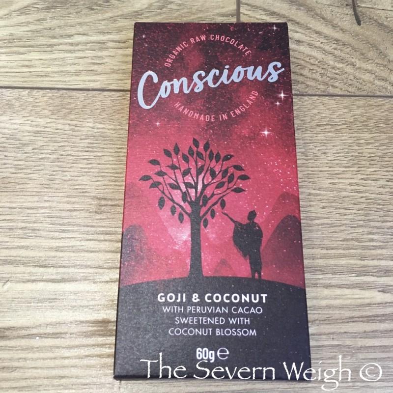 Conscious Chocolate Bar, Goji & Coconut, Raw Organic