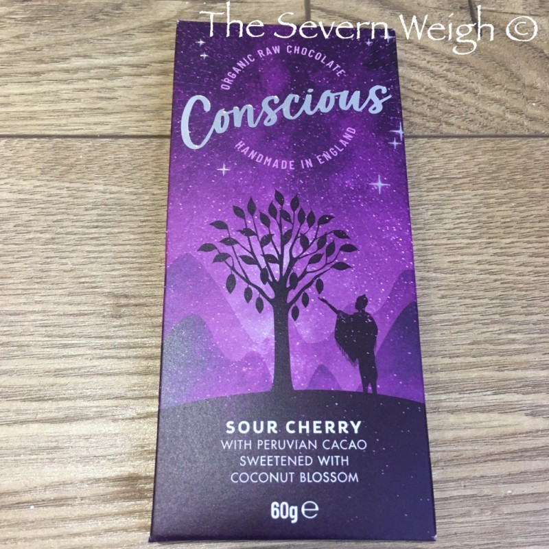 Conscious Chocolate Bar, Sour Cherry, Raw Organic