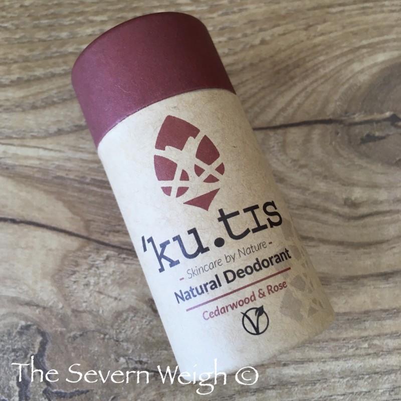 Ku-tis Natural Deodorant: Cedarwood & Rose, Vegan.
