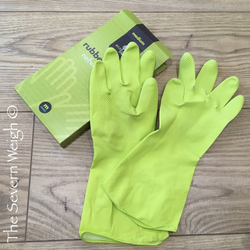 Gloves Natural Latex Rubber, lime green