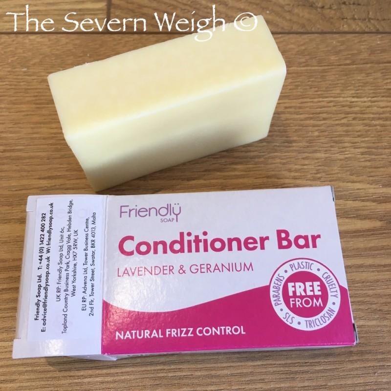 Lavender & Geranium Hair Conditioner Bar, Friendly Soap