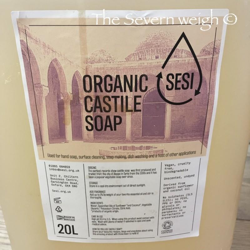 Castile Soap (pure soap) Unscented, Organic