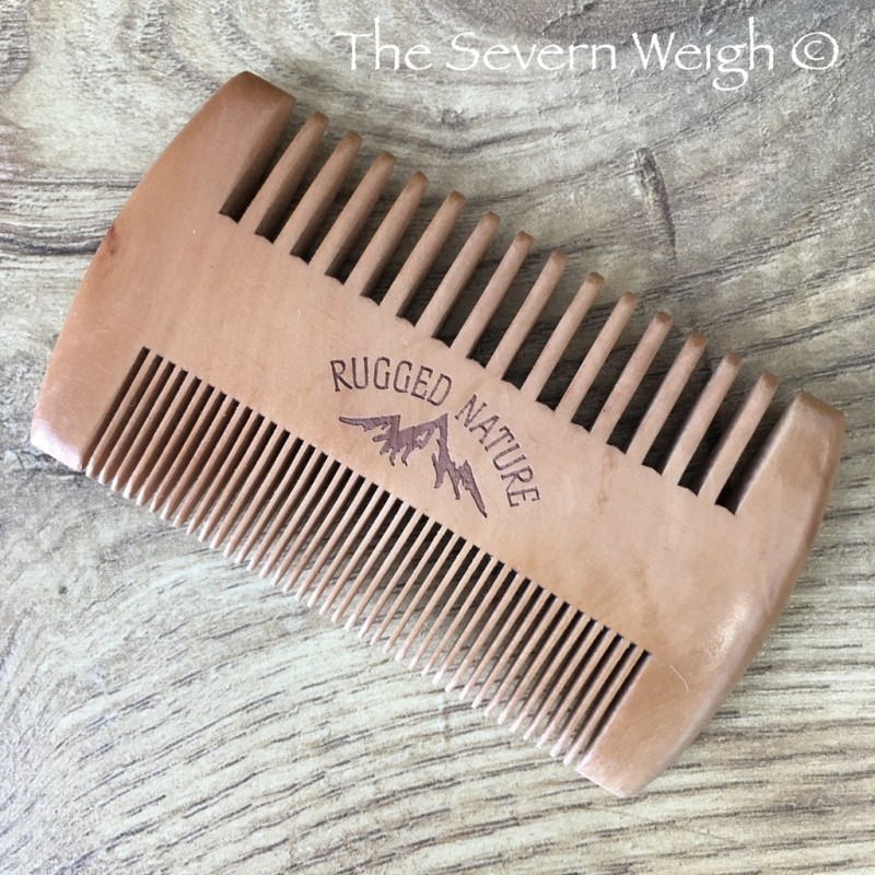Beard Comb Double Sided Peach wood: Rugged Nature