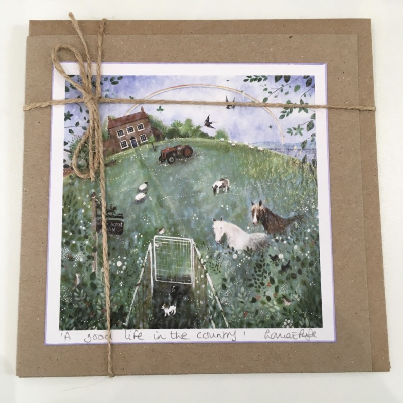 Greeting Card: 'A Good Life in the Country', Lorna Page