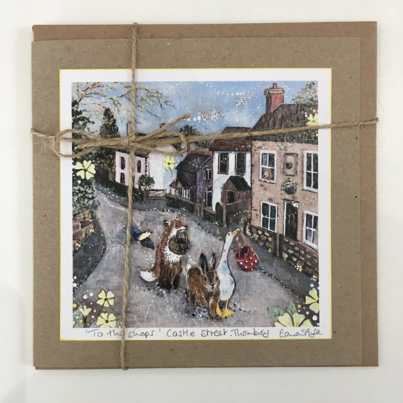 Greeting Card: 'To the Shops', Castle Street, Thornbury, Lorna Page