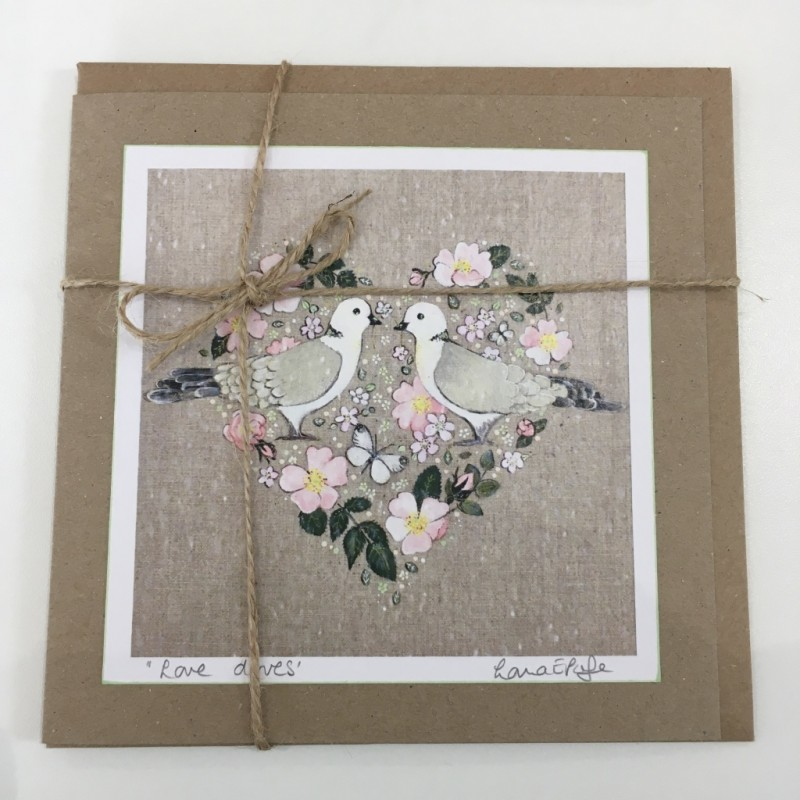 'Love Doves' Heart Greeting Card: Lorna Page