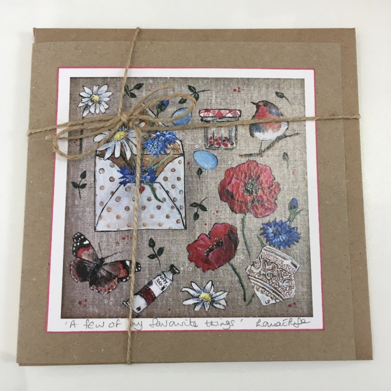'A few of my favourite things' Greeting Card: Lorna Page