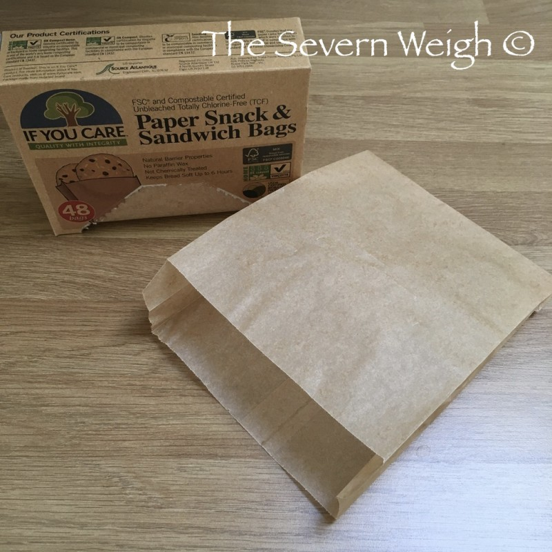 48 Snack & Sandwich Bags, unbleached, uncoated paper FSC