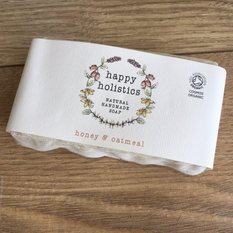 Happy Holistics Natural Soap Honey & Oatmeal