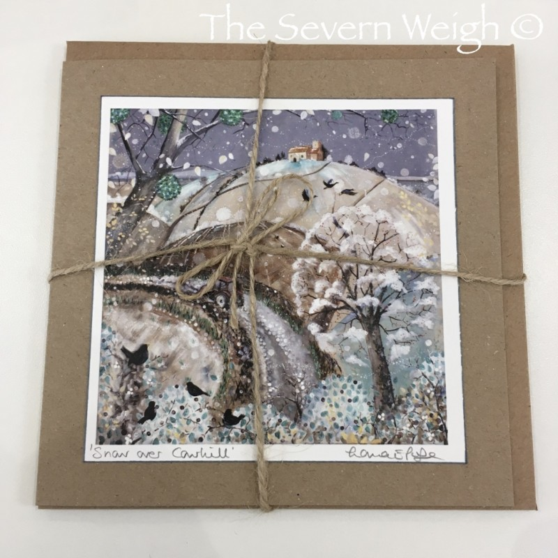 Greeting Card: 'Snow Over Cowhill', Lorna Page