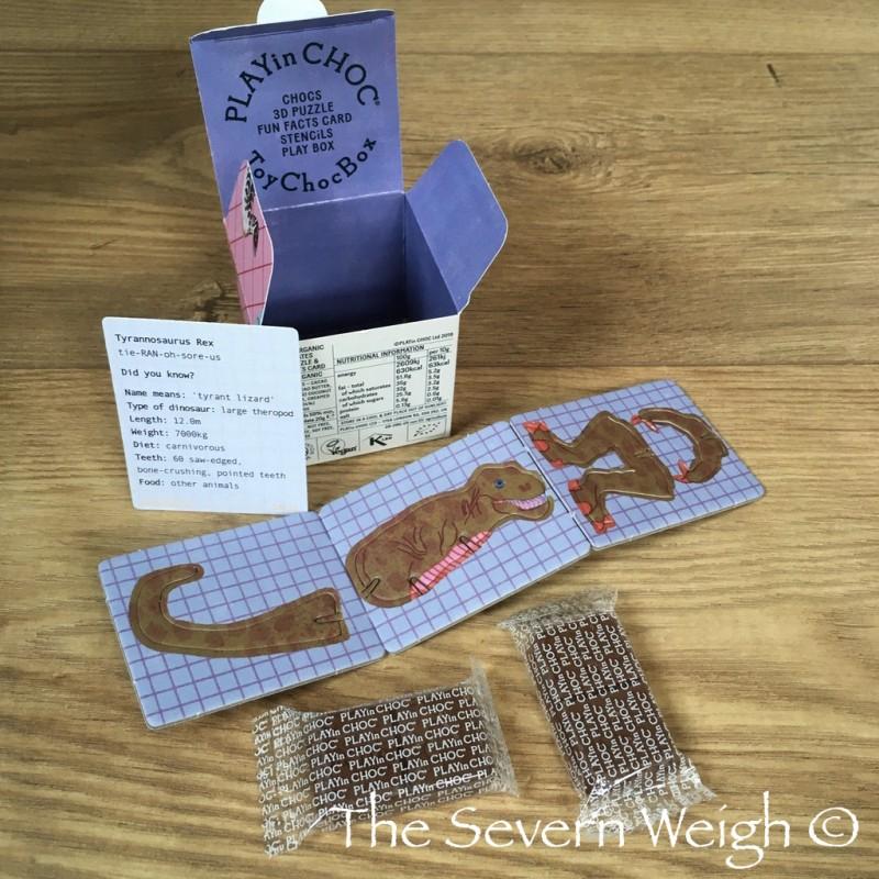 Playin Choc Dinosaurs - 3D card puzzle toy / choc