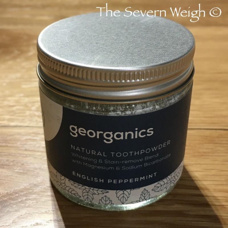 Georganics Bicarbonate Toothpowder Peppermint Fluoride Free 60ml