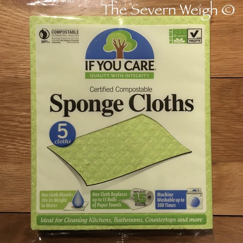 5 Natural Sponge Cloths Cellulose & Cotton Compostable