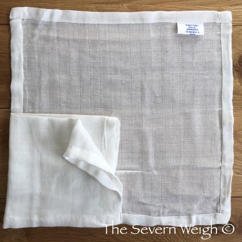 Organic Cotton Muslin Face Cloth Unbleached